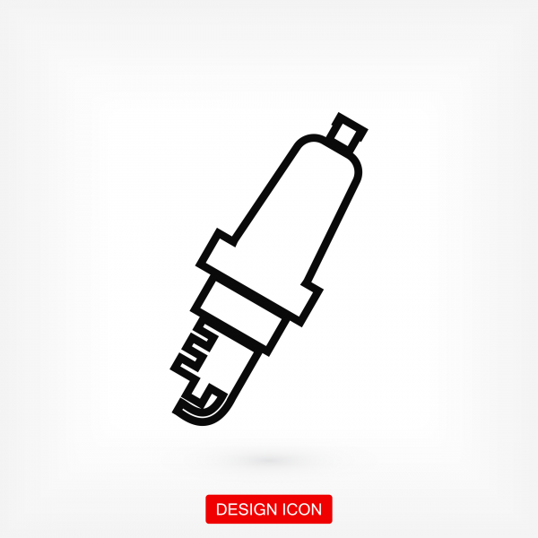 Candle for Car icon. Stock vector illustration