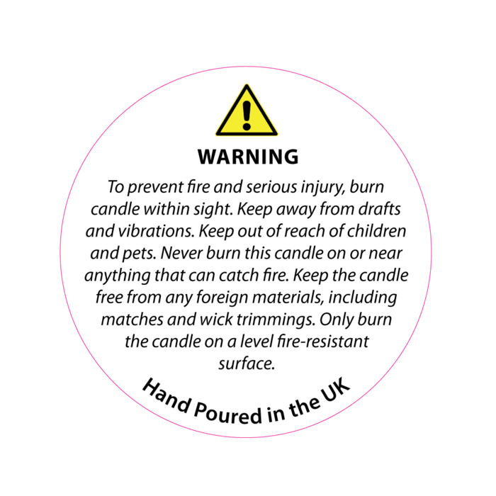 Candle label png. Mm white safety
