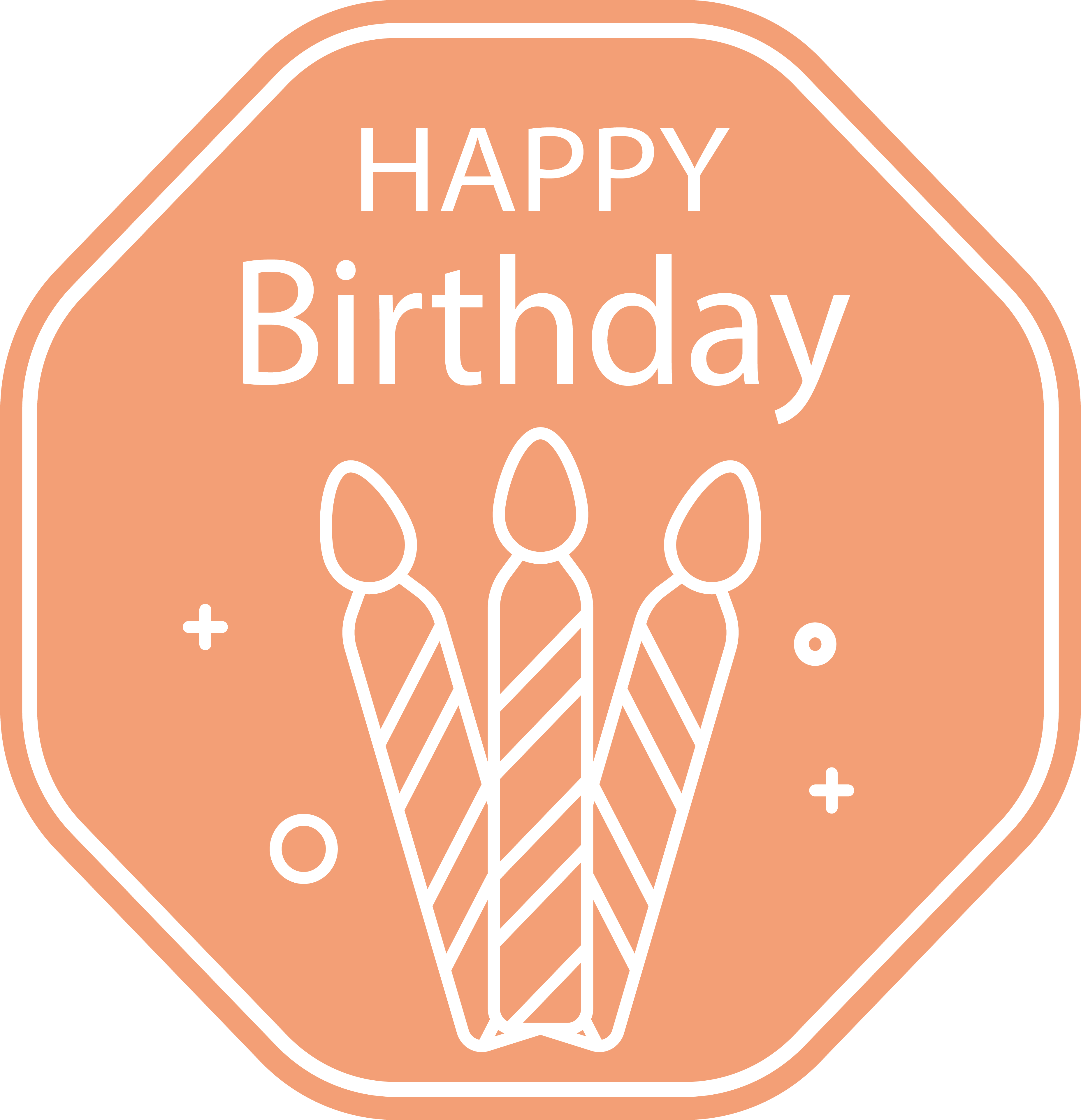 Candle label png. Happy birthday to you