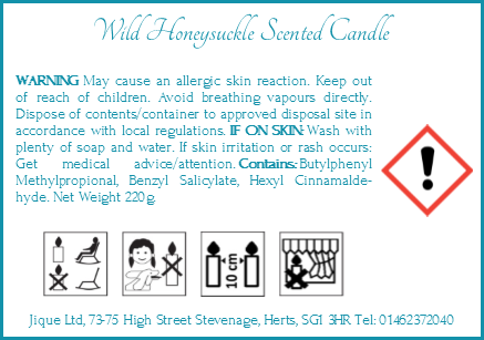 Candle label png. Clp the font size