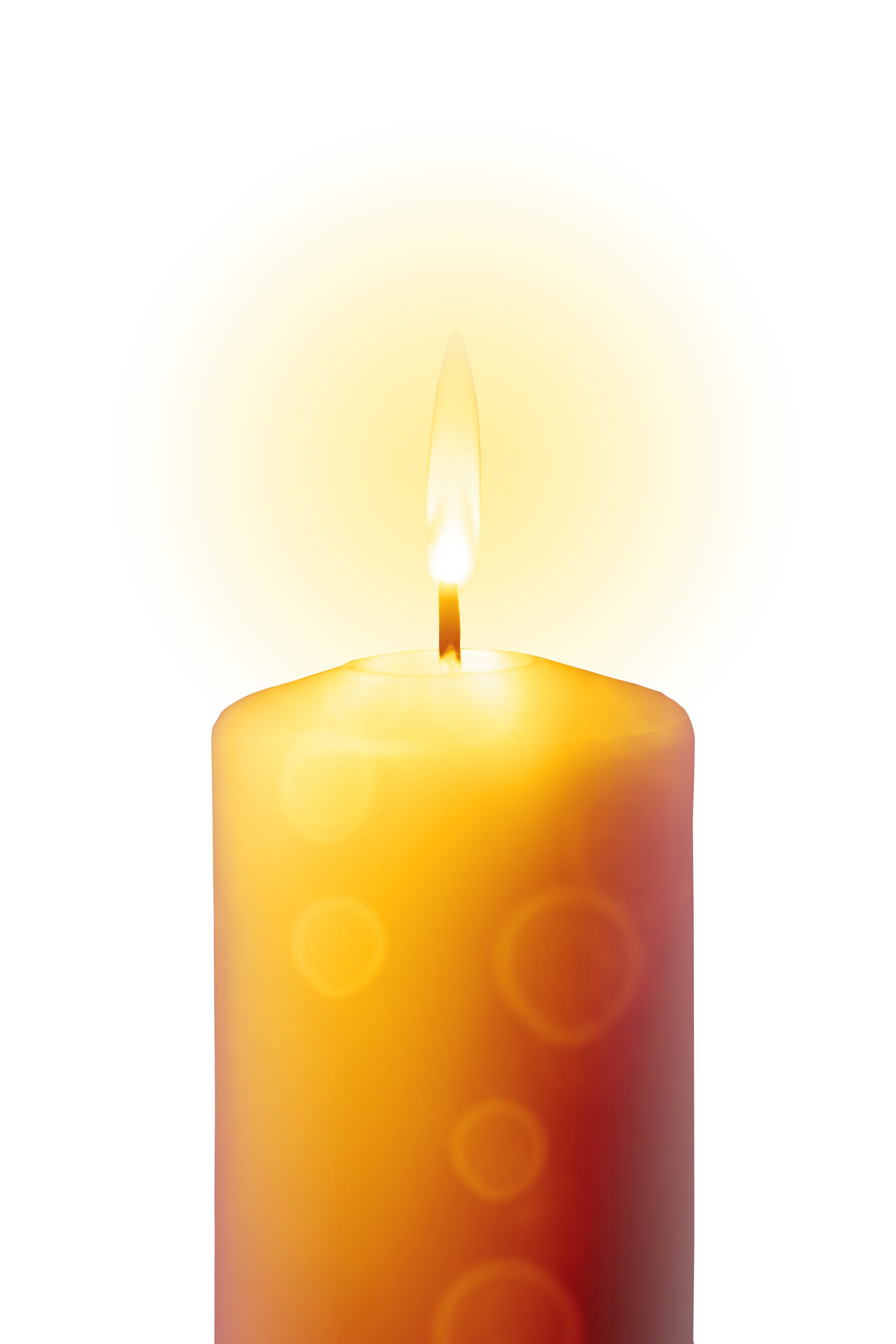 Transparent candles. Candle for sister eva