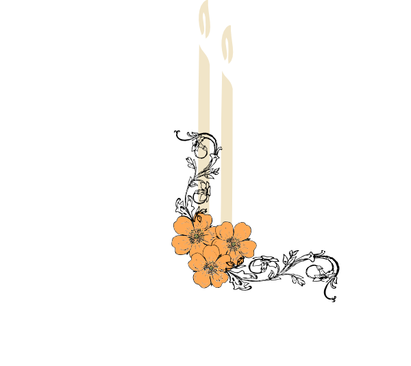 Candles and flowers png. Candle clip art at