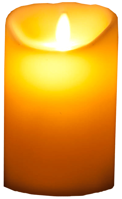 Transparent candles background. Glowing candle image seasonal