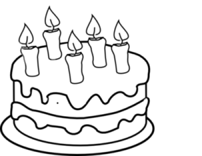 Drawing cake layered. Candles png dlpng without