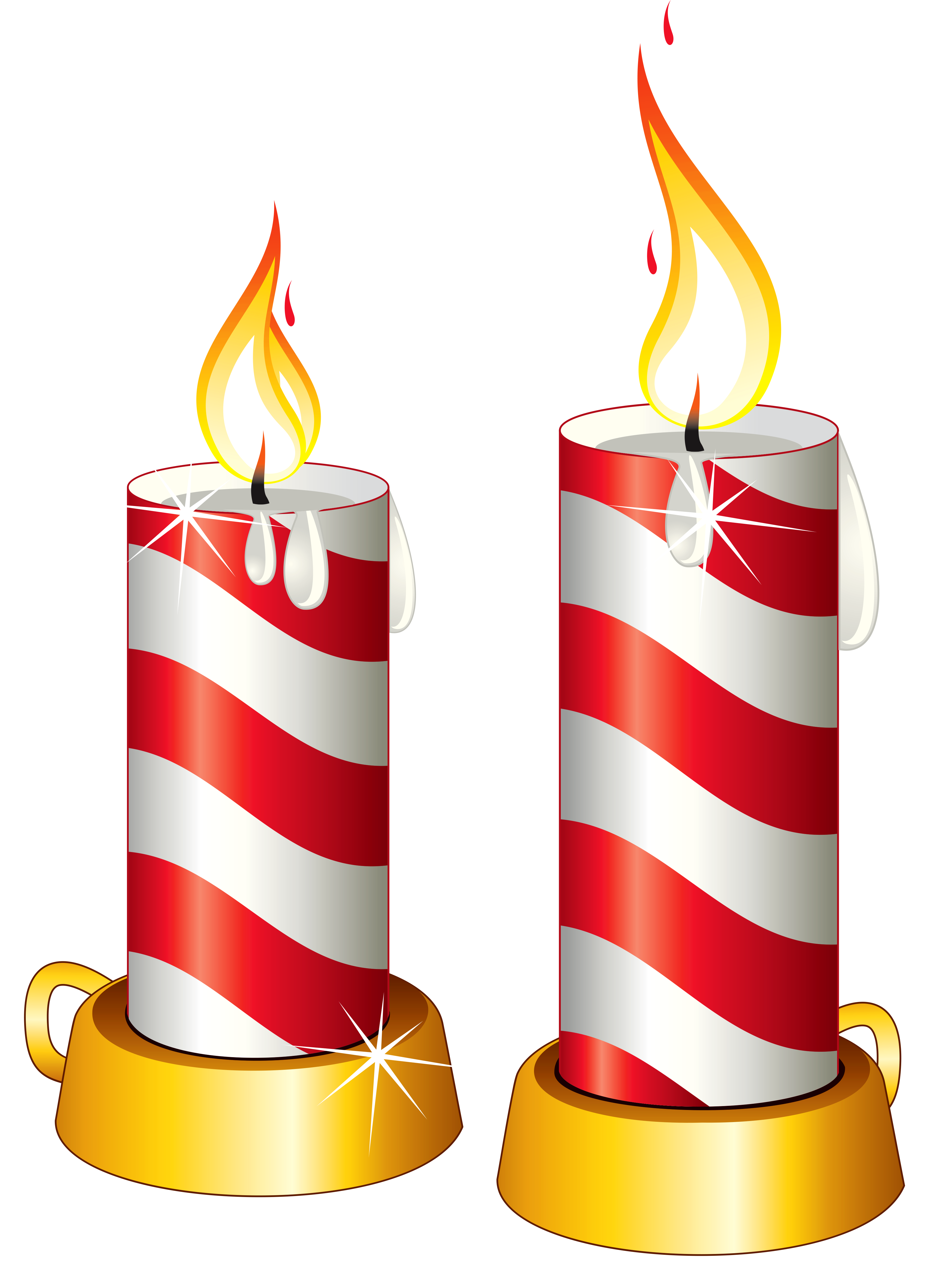 Candles clipart. Transparent christmas png gallery clip art black and white download