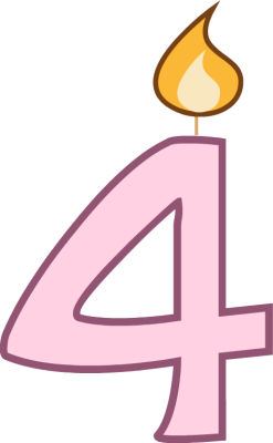 5 birthday candle png