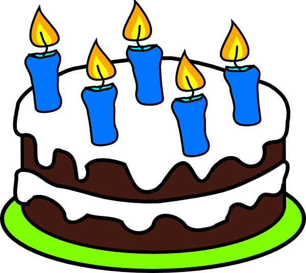 Candles clipart 5 candle. Cake clip art at