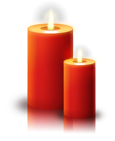 Transparent candles. Candle clipart gold and