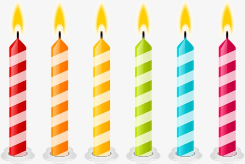 Candles clipart. Candle cartoon birthday holiday