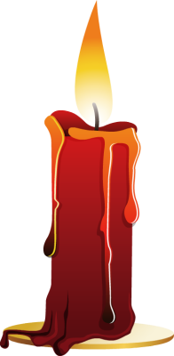 Drawing candle red. Halloween candles clipart