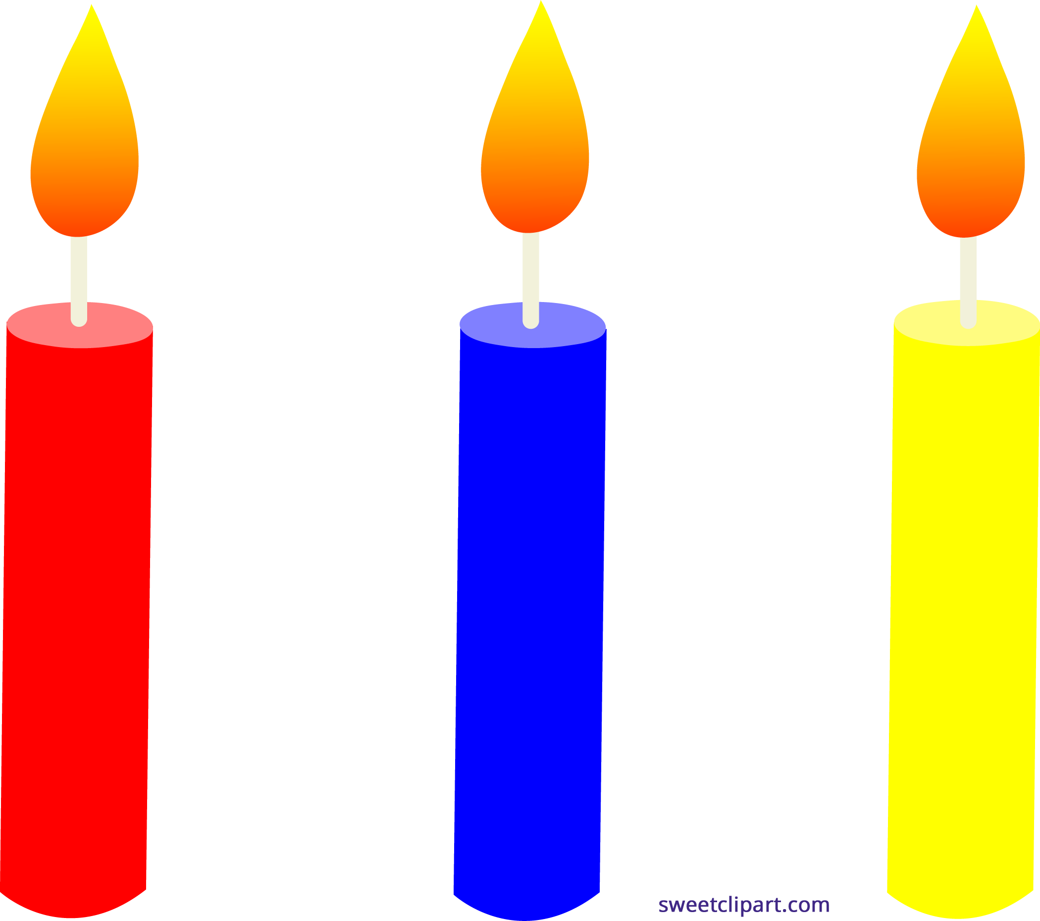 Lit number 1 and 5 birthday candles png. Holidays trio clipart sweet