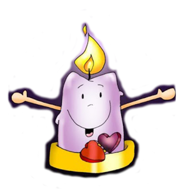 Candles clipart vela. Candle flame cartoon drawing