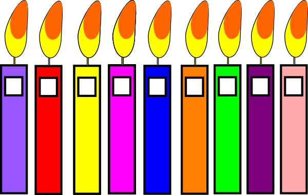 Birthday clip art at. Candles clipart banner stock