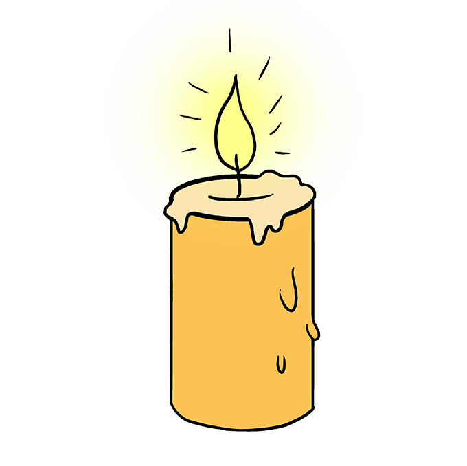 Drawing candle draw something. How to a really