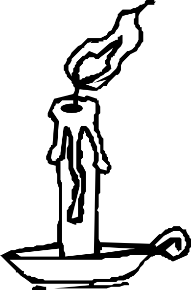Candles drawing png. Candle b w clip