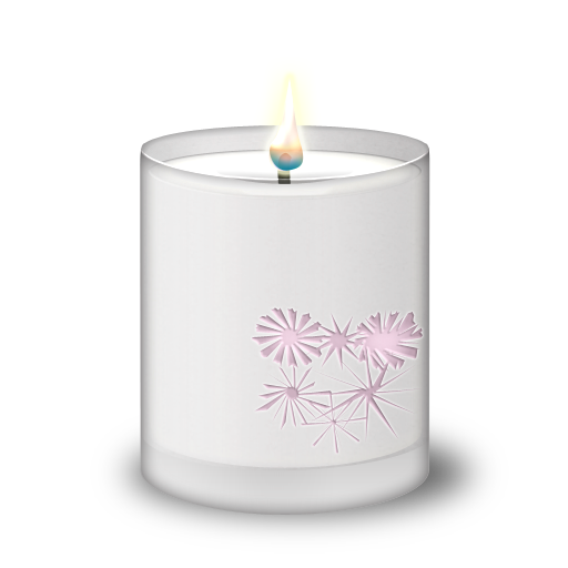 Candles in glass png. Frosted candle icon diwali