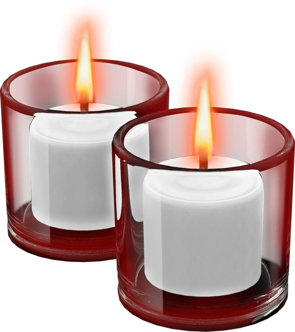 Candles in glass png. Red cups with clipart