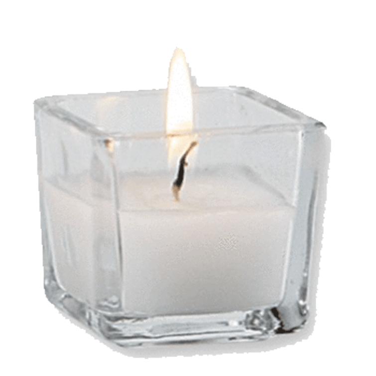 Candles in glass png. Tall votive candle
