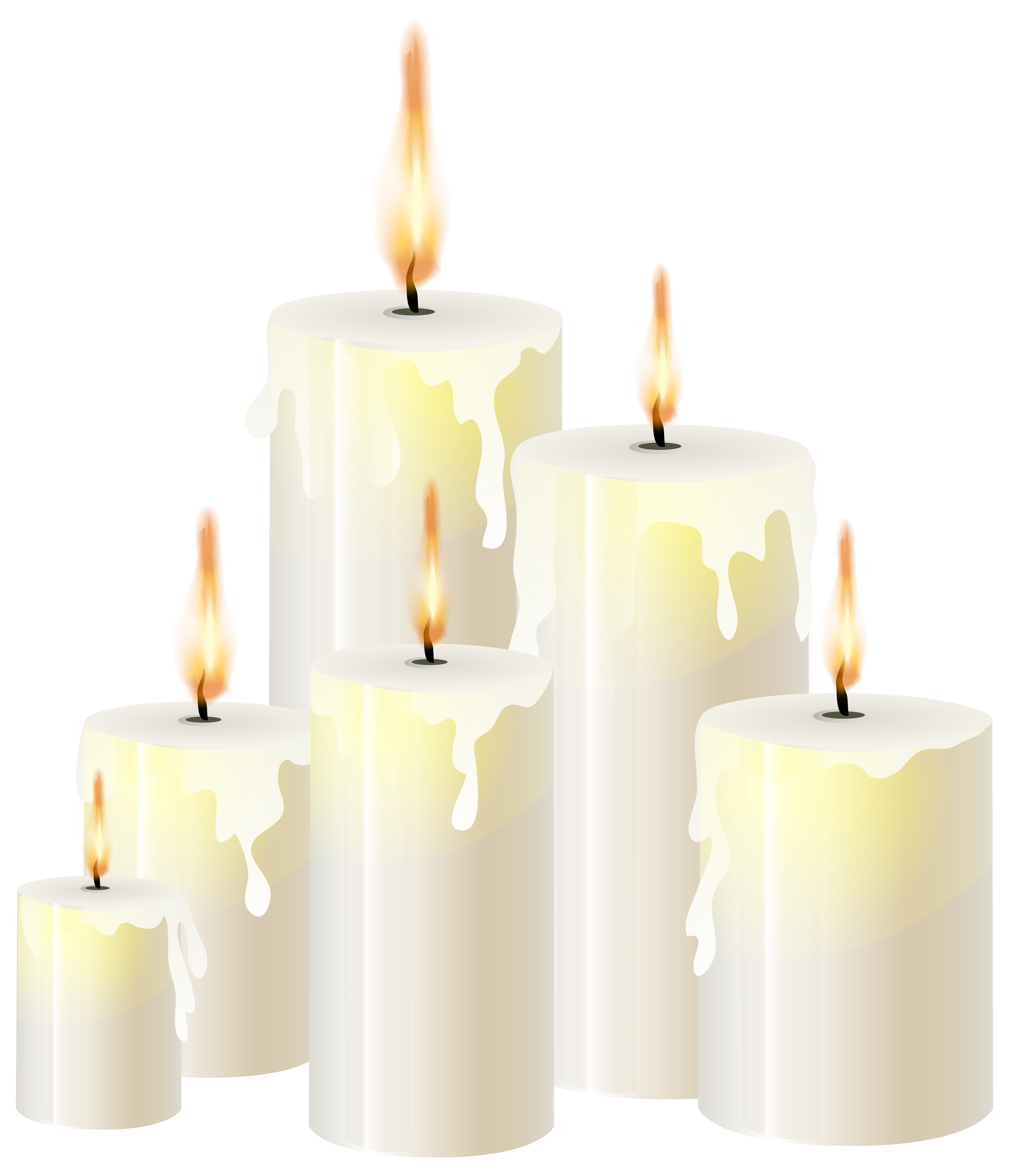 Candle png. White candles clip art