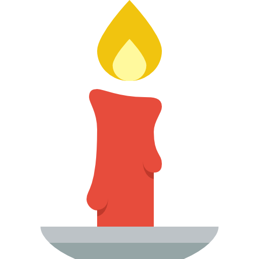 Candles png clipart. Simple christmas candle icon