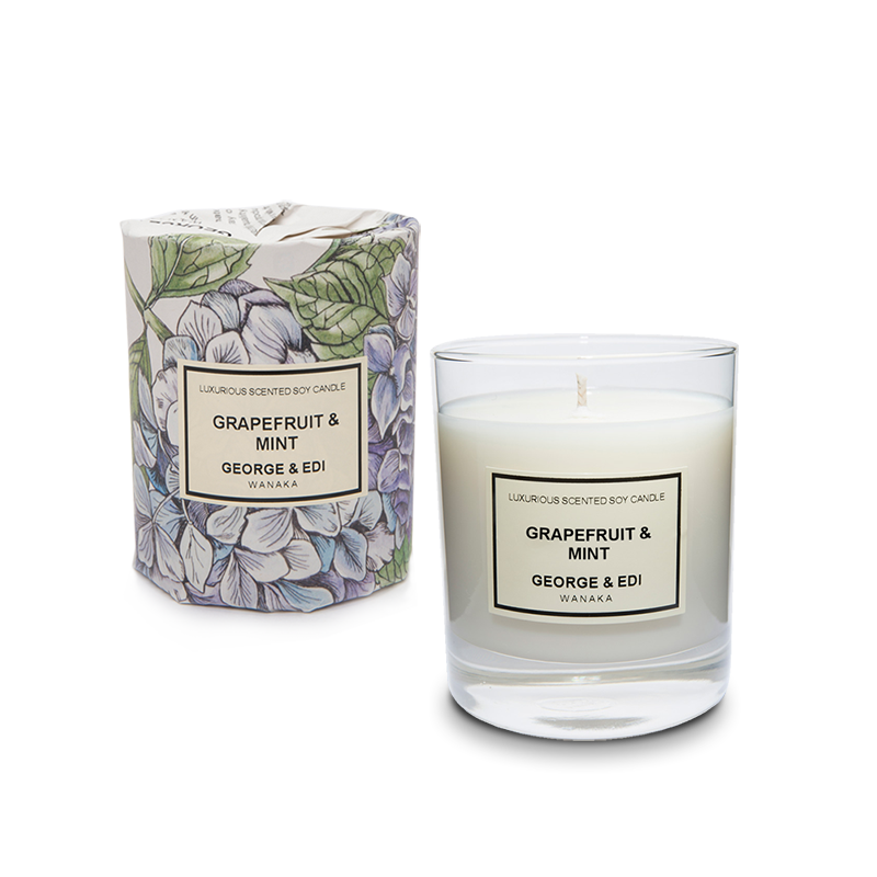 Candles png images. Grapefruit mint soy candle