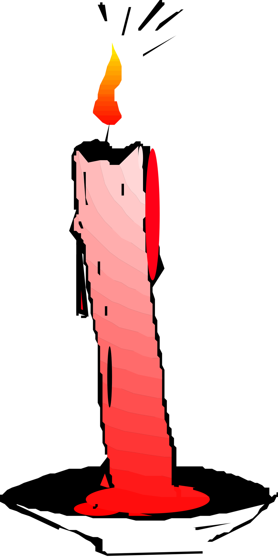 Candlestick drawing abstract. Candle free stock photo