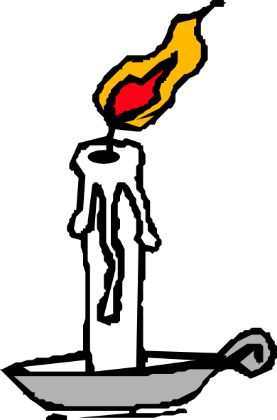 Candlestick drawing cartoon. Candle and wax clip