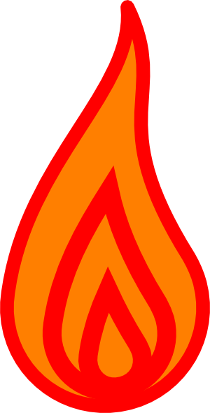 Candlestick drawing fire. Candle flame at getdrawings