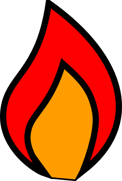Candlestick drawing fire. Candle flame clipart