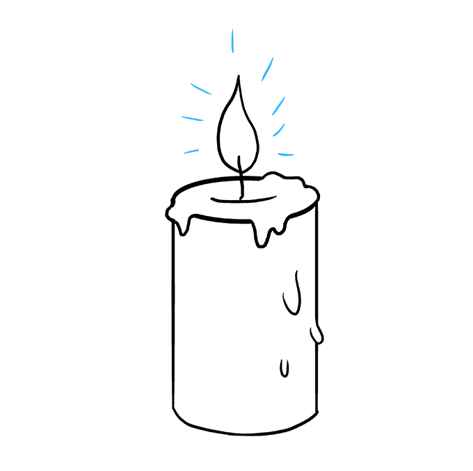 Drawing candle cool. How to draw a
