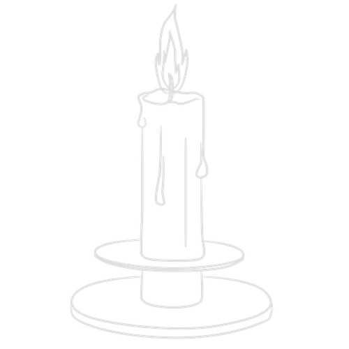 Candlestick drawing rose. Candle other images how