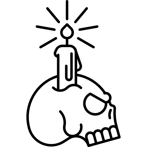 Candlestick drawing tattoo. Candle icon page png