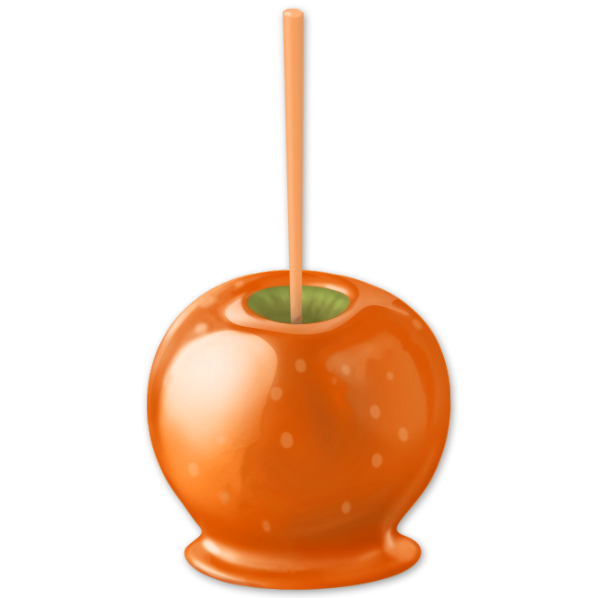 Candy apples png. Image caramel apple hay