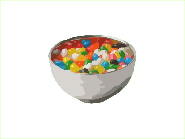 Candy bowl png. Jelly bean clip art