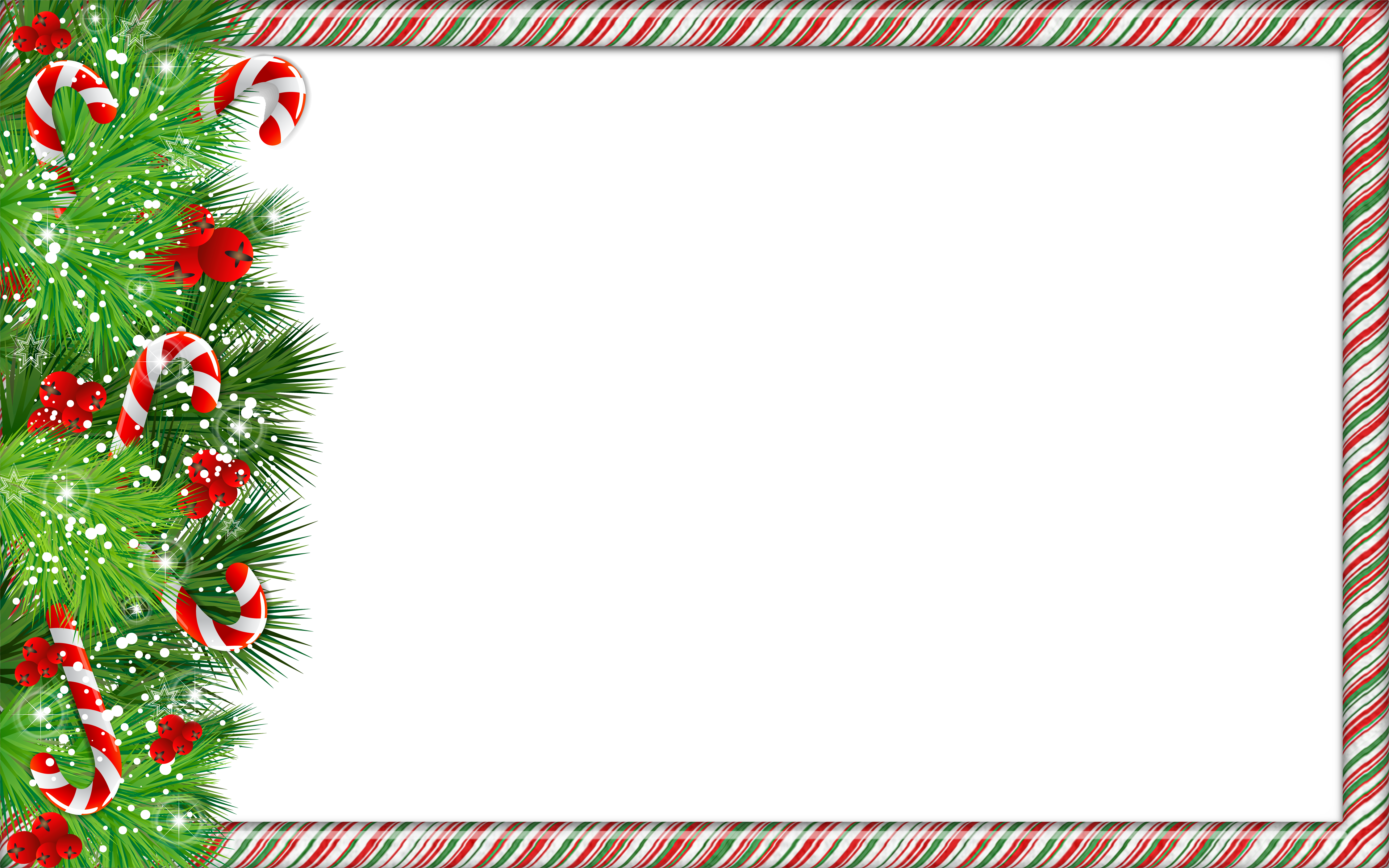 Candy cane border png. Christmas photo frame with