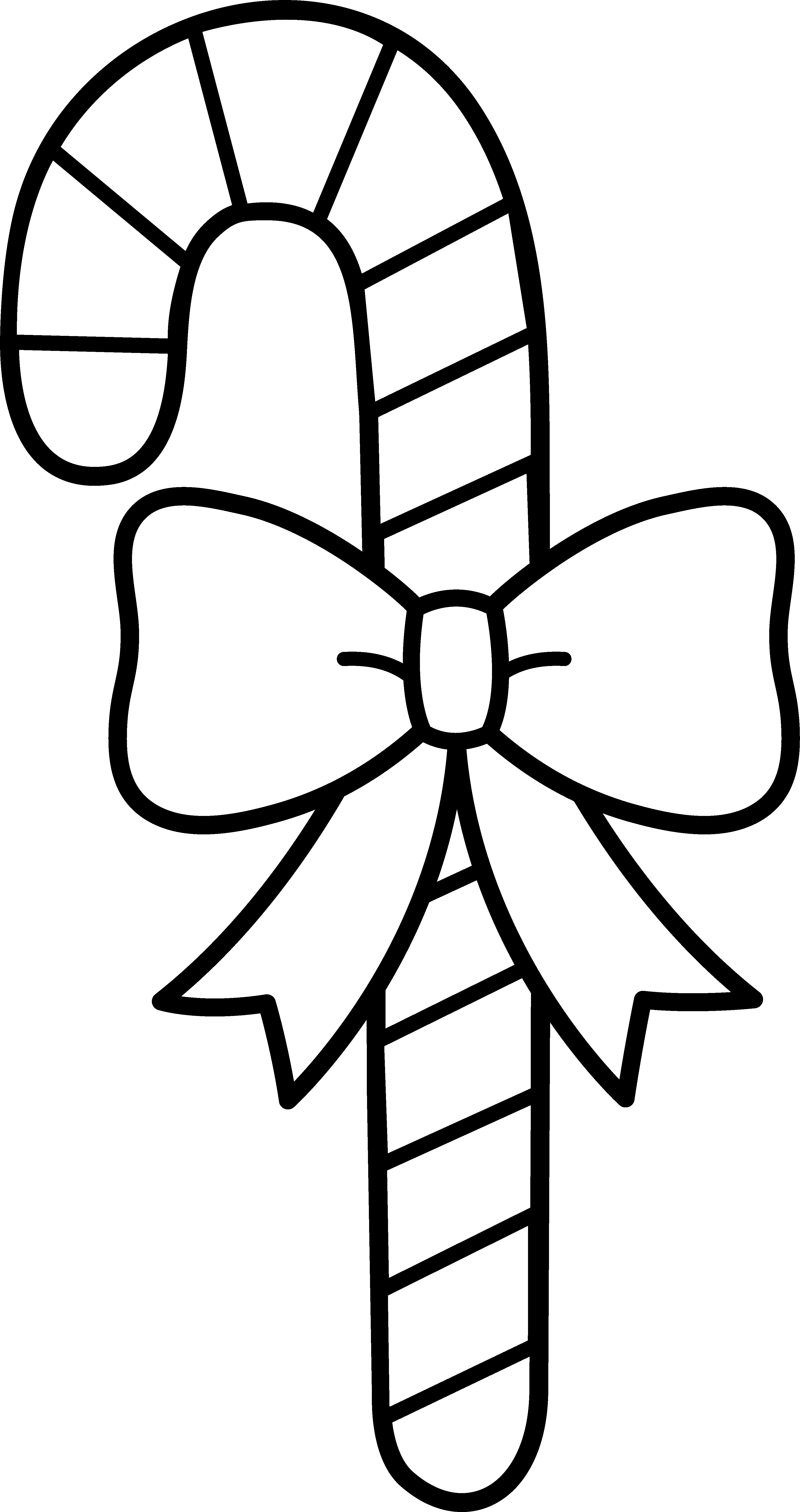 Candy cane with line. Drawing knots bow graphic freeuse download