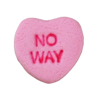 Candy heart png. Pink no way pinterest