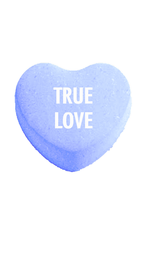 Candy heart png. True love