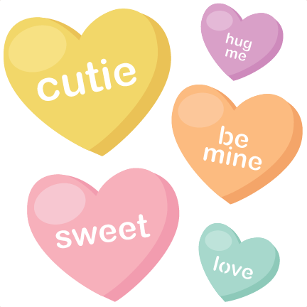 Candy heart png. Hearts svg cutting files