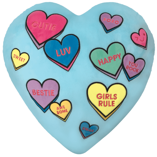 Candy hearts png. Scented embroidered pillow iscream