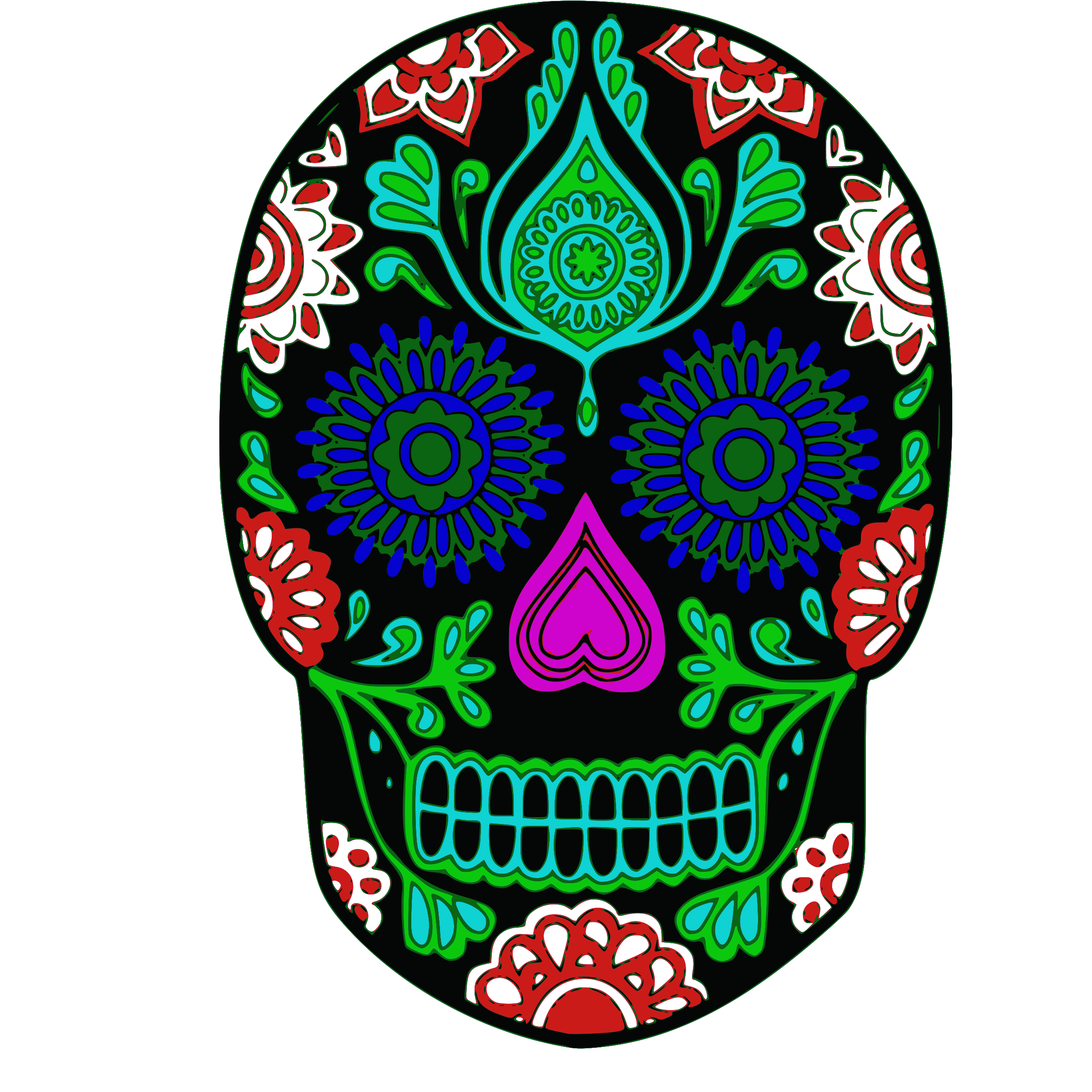 Candy skull png. My sugar icons free