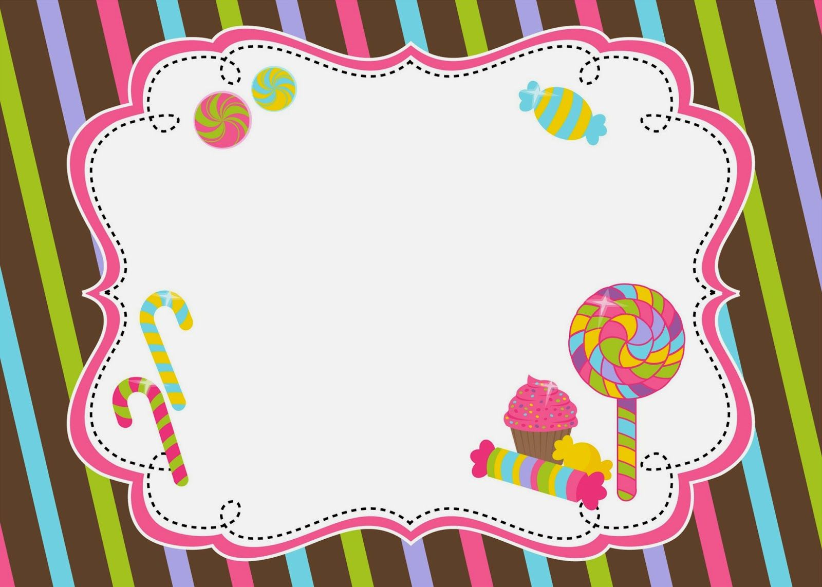 Candyland clipart frame. Pin by jackeline on
