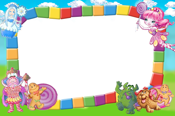 Candyland clipart frame. Path instant photo magnets