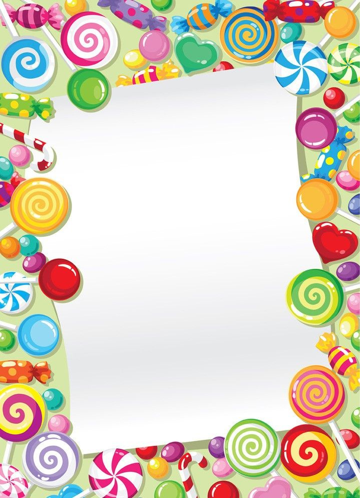 Candyland clipart frame. Pin by iluta on