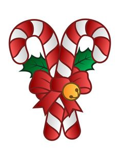 Cane clipart 4 candy. Free vintage christmas clip