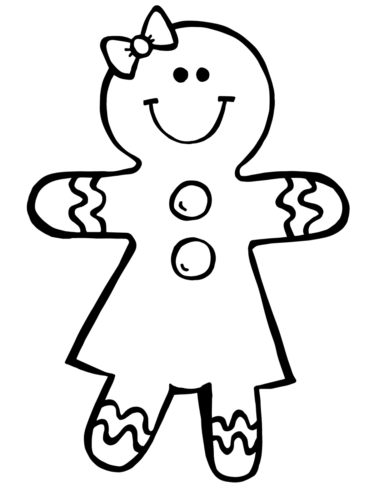 Ginger vector black. Christmas gingerbread girl with