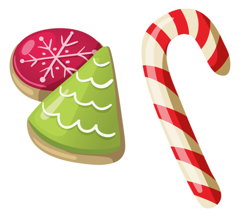 Cane drawing cheistmas. Christmas candy clip