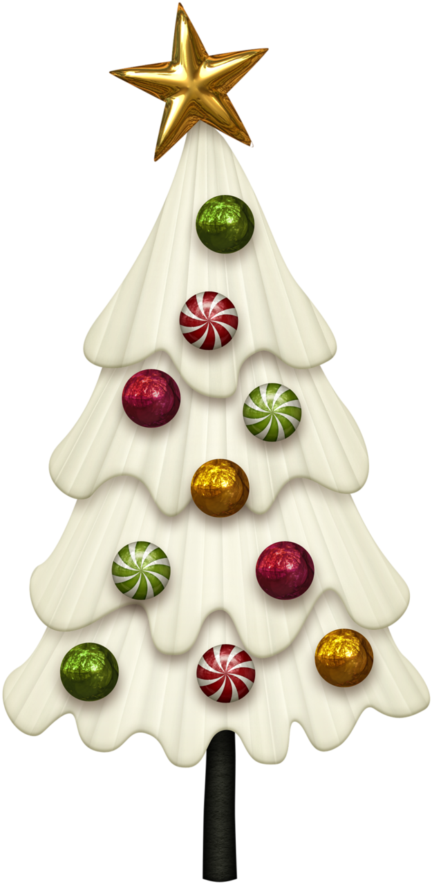 Poinsetta clip christmas tree. Candy cane cuties and
