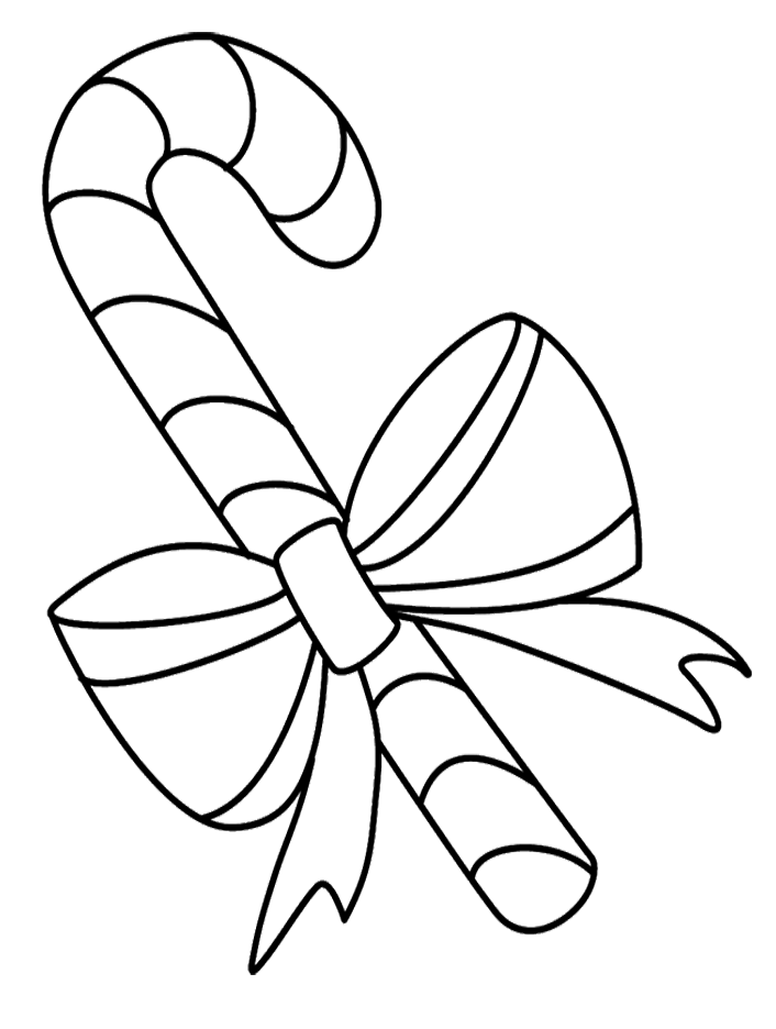 Cane drawing color. Pictures candy coloring pages