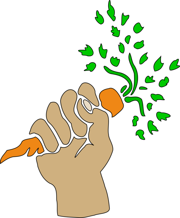 Poor drawing hunger. Carrot download hand art